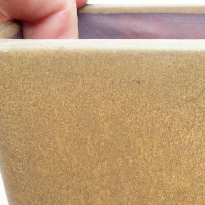 Ceramiczna miska bonsai 10 x 10 x 7 cm, kolor brązowy - 2
