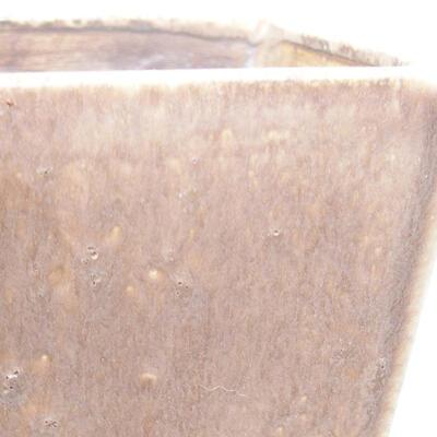 Ceramiczna miska bonsai 10 x 10 x 7,5 cm, kolor brązowy - 2