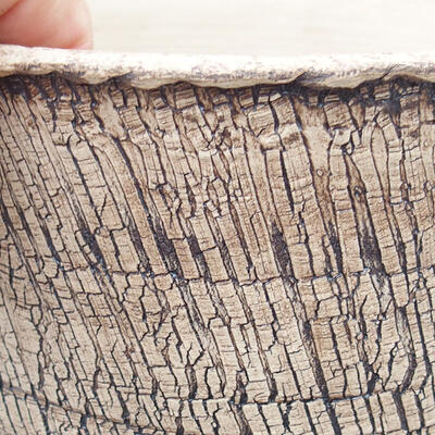 Ceramiczna miska bonsai 14 x 14 x 14,5 cm, kolor spękany - 2
