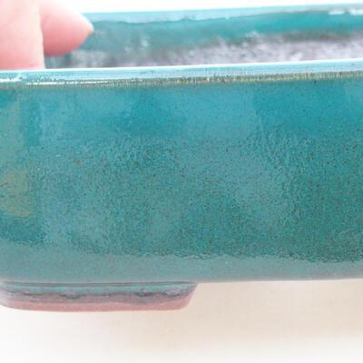 Ceramiczna miska bonsai 15 x 12 x 4,5 cm, kolor zielony - 2