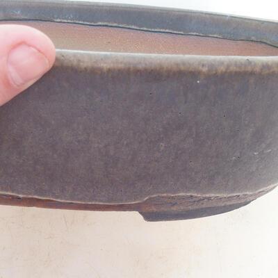 Miska Bonsai 26 x 20 x 7,5 cm, kolor brązowy - 2
