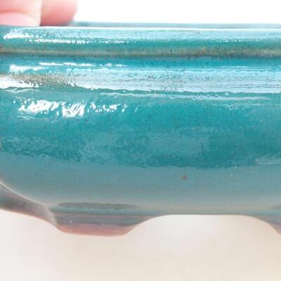Ceramiczna miska bonsai 12,5 x 10,5 x 3,5 cm, kolor zielony - 2