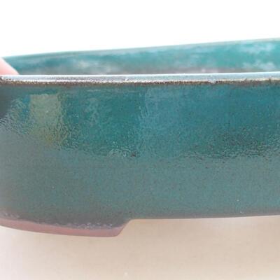 Ceramiczna miska bonsai 17 x 14 x 3,5 cm, kolor zielony - 2