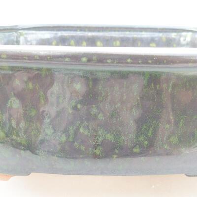 Ceramiczna miska bonsai 21 x 16,5 x 7 cm, kolor zielony - 2