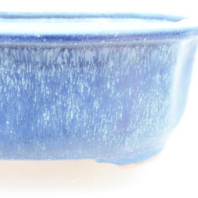 Ceramiczna miska bonsai 21 x 16,5 x 7 cm, kolor niebieski - 2
