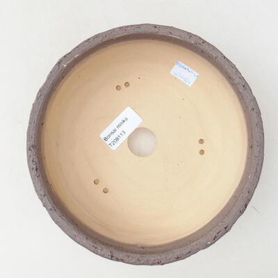 Ceramiczna miska bonsai 20 x 20 x 7 cm, kolor pęknięcia żółty - 2