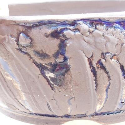 Ceramiczna miska bonsai 20 x 20 x 7,5 cm, kolor szaro-niebieski - 2
