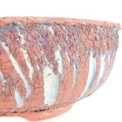 Ceramiczna miska bonsai 18 x 18 x 6 cm, kolor szaro-niebieski - 2