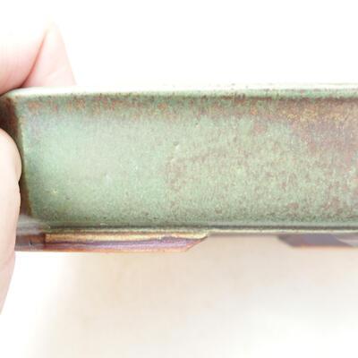 Ceramiczna miska bonsai 12,5 x 17,5 x 4 cm, kolor zielony - 2