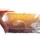 Ceramiczna miska bonsai 12 x 7,5 x 4 cm, kolor czarno-żółty - 2/3