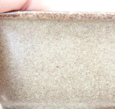 Ceramiczna miska bonsai 12 x 9 x 5,5 cm, kolor brązowy - 2