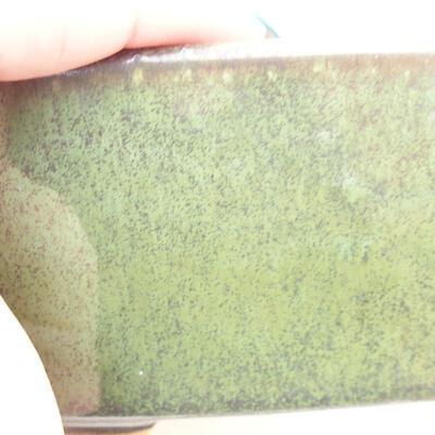 Ceramiczna miska bonsai 13 x 10 x 6 cm, kolor zielony - 2