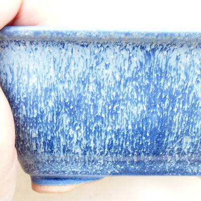 Ceramiczna miska bonsai 12,5 x 9,5 x 6 cm, kolor niebieski - 2