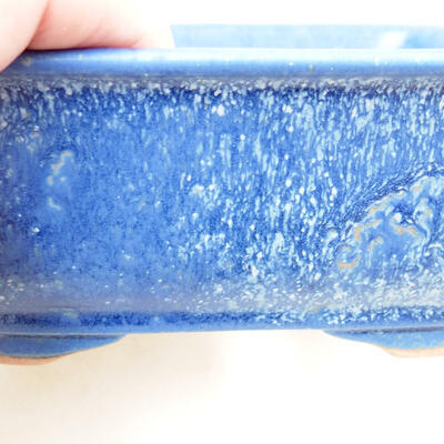 Ceramiczna miska bonsai 12 x 9 x 6 cm, kolor niebieski - 2