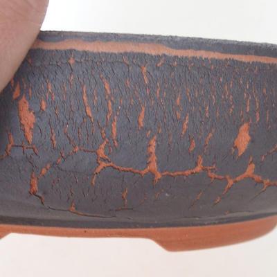 Ceramiczna miska bonsai 20,5 x 20,5 x 6 cm, kolor popękany - 2