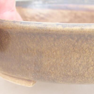 Ceramiczna miska bonsai 12 x 11 x 3 cm, kolor brązowy - 2