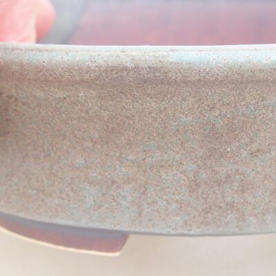 Ceramiczna miska bonsai 12 x 11 x 3 cm, kolor brązowo-niebieski - 2