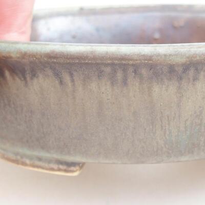 Ceramiczna miska bonsai 12 x 11 x 3 cm, kolor brązowo-zielony - 2