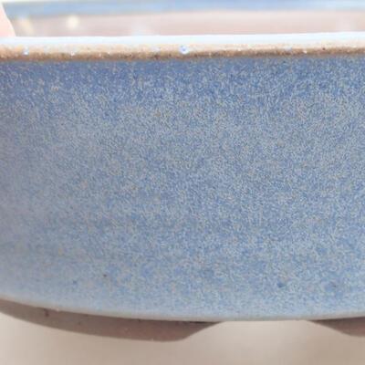 Ceramiczna miska bonsai 18 x 18 x 4,5 cm, kolor niebieski - 2