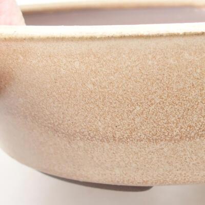 Ceramiczna miska bonsai 18,5 x 18,5 x 5 cm, kolor brązowy - 2