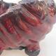 Ceramiczna skorupa 7 x 7 x 5,5 cm, kolor czerwony - 2/3