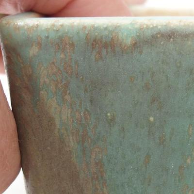Ceramiczna miska bonsai 8 x 8 x 6 cm, kolor zielony - 2