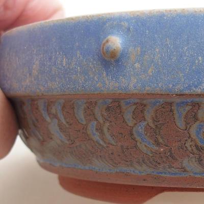 Ceramiczna miska bonsai 15 x 15 x 5 cm, kolor niebieski - 2