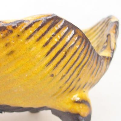 Ceramiczna skorupa 7 x 7 x 5 cm, kolor żółty - 2