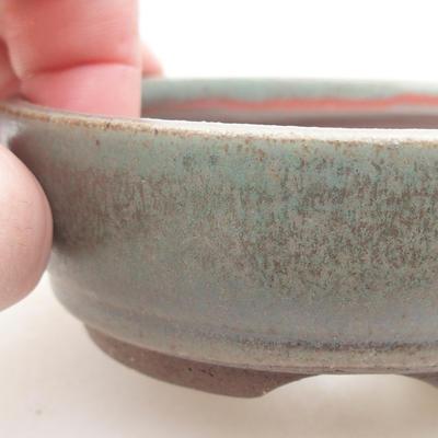 Ceramiczna miska bonsai 9 x 9 x 3 cm, kolor zielony - 2