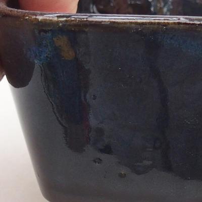 Ceramiczna miska bonsai 13 x 10 x 5,5 cm, kolor niebieski - 2