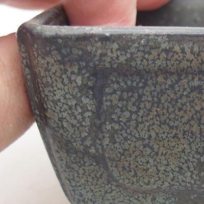 Ceramiczna miska bonsai 13 x 9 x 4,5 cm, kolor szary - 2