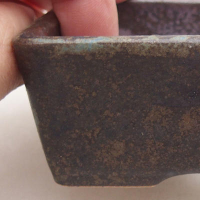 Ceramiczna miska bonsai 9 x 7 x 4 cm, kolor szary - 2