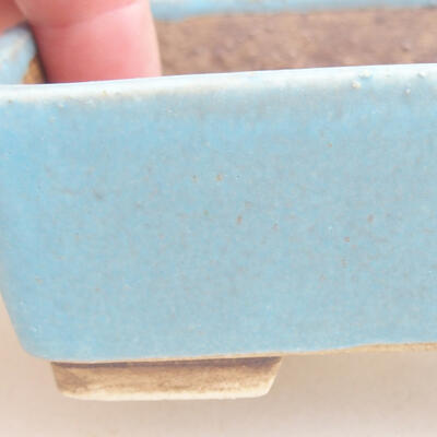 Ceramiczna miska bonsai 9,5 x 8 x 3,5 cm, kolor niebieski - 2