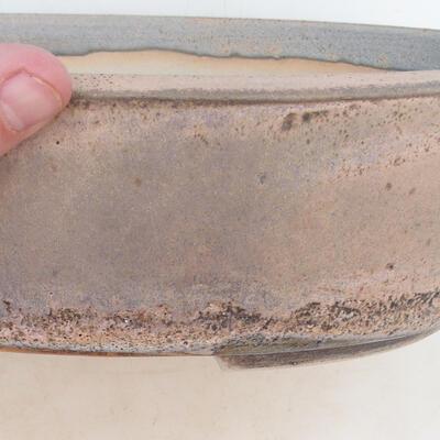 Miska Bonsai 32 x 24 x 8,5 cm, kolor szaro-beżowy - 2