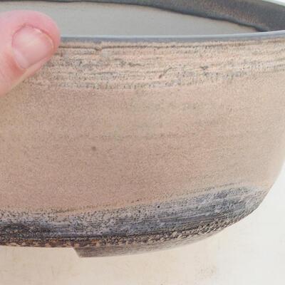 Miska Bonsai 31 x 24 x 10 cm, kolor szaro-beżowy - 2