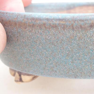 Ceramiczna miska bonsai 12 x 9,5 x 3,5 cm, kolor niebieski - 2