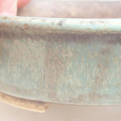 Ceramiczna miska bonsai 12 x 11 x 3 cm, kolor zielony - 2
