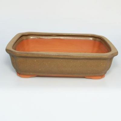 Ceramiczna miska bonsai H 20 - 26,5 x 21 x 7,5 cm - 2