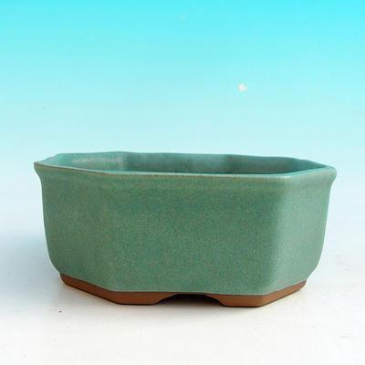 Ceramiczna miska bonsai H 13 - 11,5 x 11,5 x 4,5 cm - 2