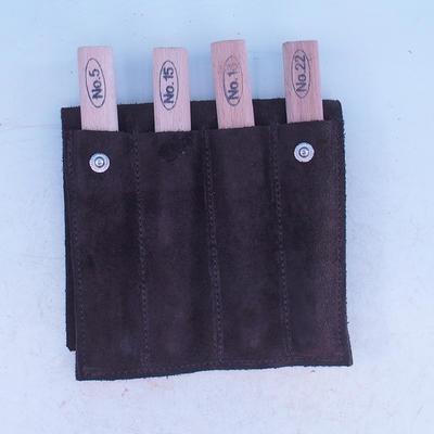 Zestaw 4-częściowej obudowy w skórzanym etui - NO18, NO15, NO5, NO22 - 2