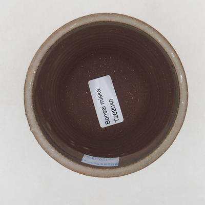 Ceramiczna miska bonsai 9,5 x 9,5 x 9 cm, kolor zielony - 3