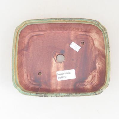 Ceramiczna miska bonsai 17,5 x 14,5 x 5 cm, kolor zielony - 3