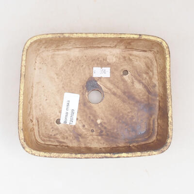 Ceramiczna miska bonsai 17 x 14 x 4,5 cm, kolor żółty - 3