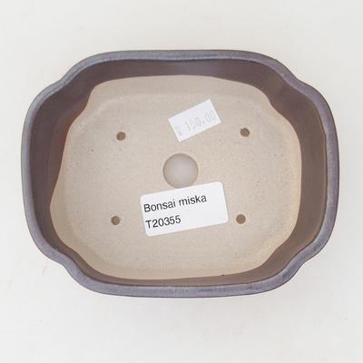 Ceramiczna miska bonsai 12,5 x 10 x 4,5 cm, kolor brązowy - 3