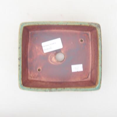 Ceramiczna miska bonsai 14,5 x 11,5 x 4,5 cm, kolor zielony - 3