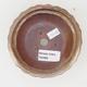 Ceramiczna miska bonsai 11,5 x 11,5 x 4,5 cm, kolor brązowo-beżowy - 3/4