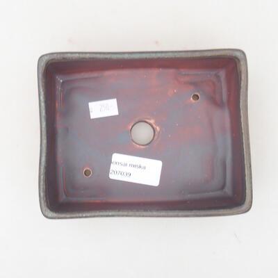 Ceramiczna miska bonsai 14,5 x 11,5 x 4,5 cm, kolor szary - 3