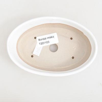 Ceramiczna miska bonsai 14,5 x 9 x 3,5 cm, kolor biały - 3