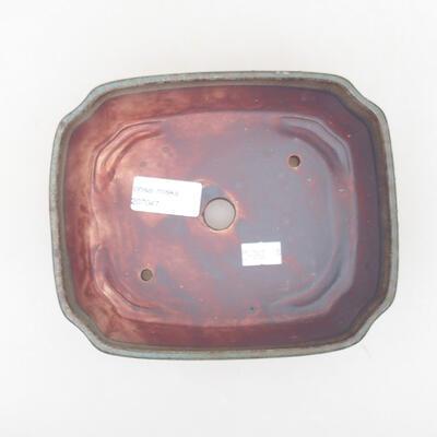 Ceramiczna miska bonsai 16,5 x 14 x 5,5 cm, kolor szary - 3