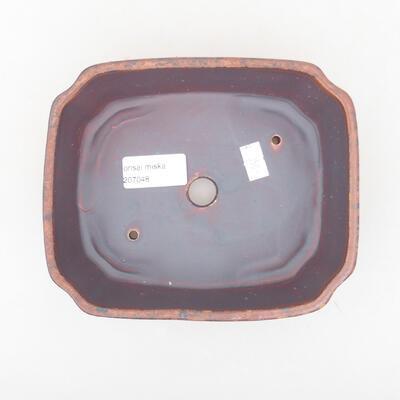 Ceramiczna miska bonsai 16,5 x 14 x 5,5 cm, kolor brązowy - 3